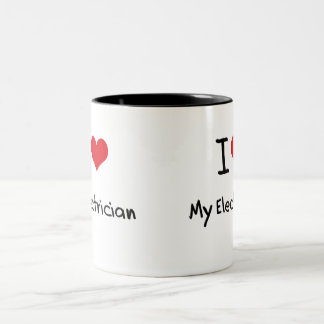 I love My Electrician Two-Tone Mug