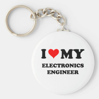 I Love My Electronics Engineer Key Ring
