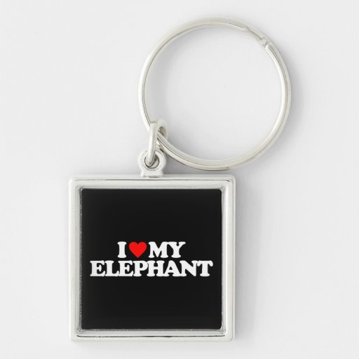 I LOVE MY ELEPHANT KEYCHAIN