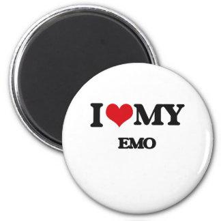 I Love My EMO Refrigerator Magnets
