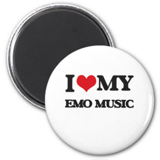 I Love My EMO MUSIC Magnets