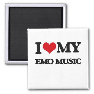 I Love My EMO MUSIC Fridge Magnet