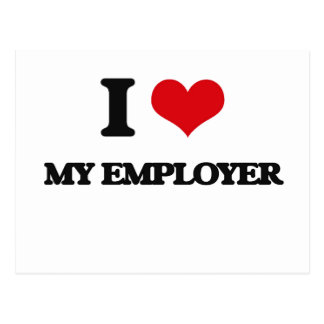 I love My Employer Postcards