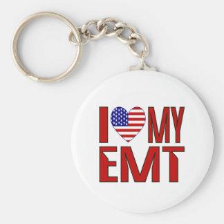 I Love My EMT Key Ring