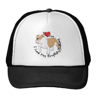 I Love My English Bulldog Dog Cap