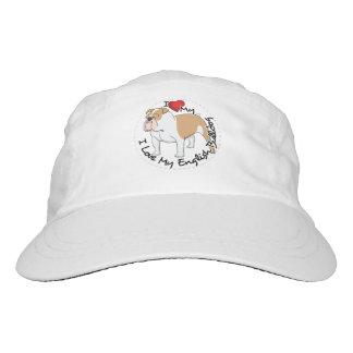I Love My English Bulldog Dog Hat