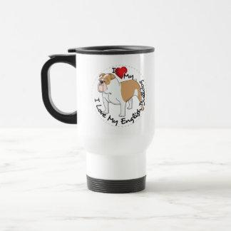 I Love My English Bulldog Dog Travel Mug