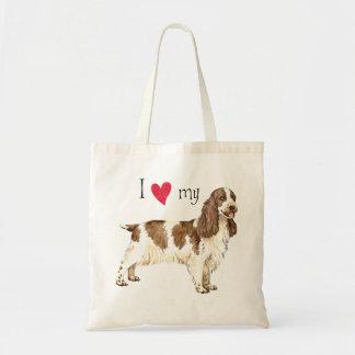 I Love my English Cocker Spaniel Budget Tote Bag