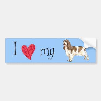 I Love my English Cocker Spaniel Bumper Sticker