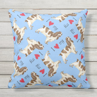 I Love my English Cocker Spaniel Throw Cushions