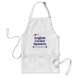 I Love My English Cocker Spaniels (Multiple Dogs) Adult Apron