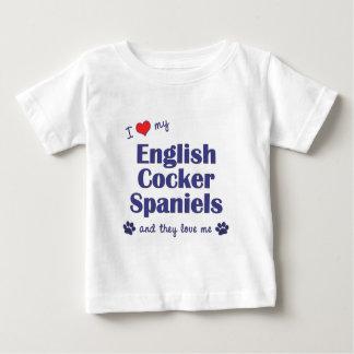 I Love My English Cocker Spaniels (Multiple Dogs) Tshirt