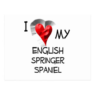 I Love My English Springer Spaniel Postcard