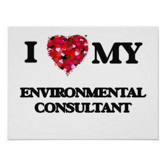I love my Environmental Consultant Poster