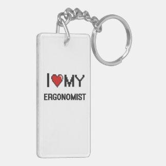 I love my Ergonomist Double-Sided Rectangular Acrylic Keychain