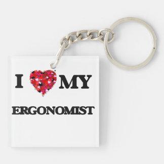 I love my Ergonomist Double-Sided Square Acrylic Key Ring