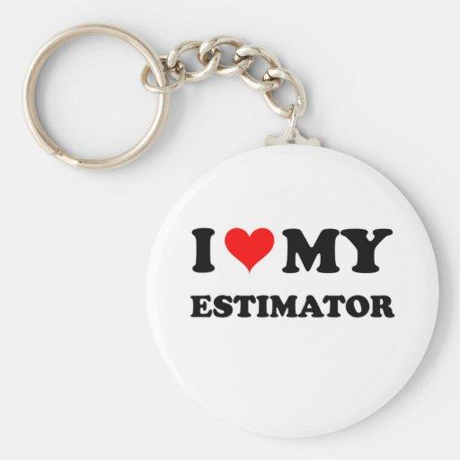 I Love My Estimator Key Chain