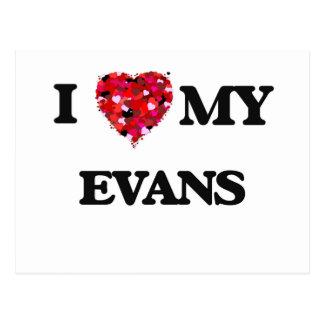 I Love MY Evans Postcard