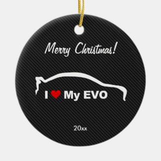 I Love My EVO Ornament