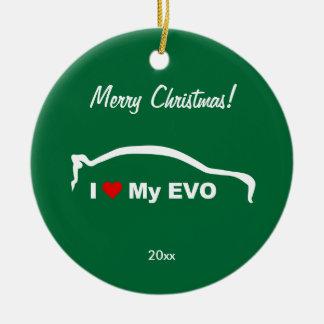 I Love My EVO - personalized Round Ceramic Decoration