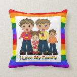 I Love My Family 2 Dads Pillows