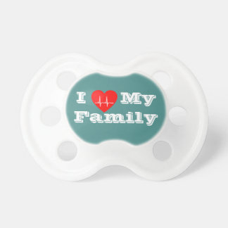 I love my family custom baby custom baby soother