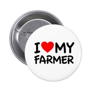 I love my farmer pinback buttons