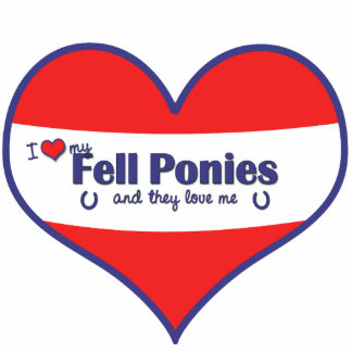 I Love My Fell Ponies (Multiple Ponies) Standing Photo Sculpture