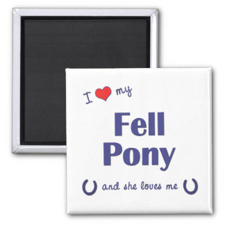 I Love My Fell Pony Female Pony Fridge Magnets