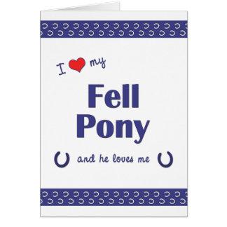 I Love My Fell Pony (Male Pony) Greeting Card