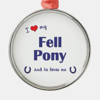 I Love My Fell Pony (Male Pony) Ornaments