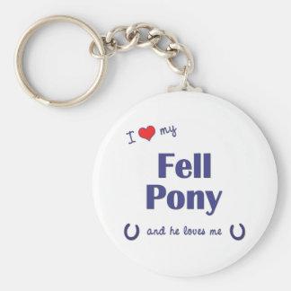 I Love My Fell Pony Male Pony Key Chain