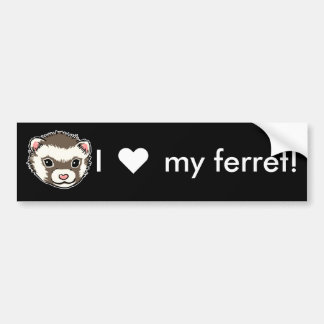 I love my ferret bumper sticker