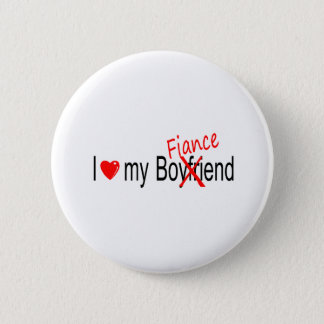 I Love My Fiance 6 Cm Round Badge
