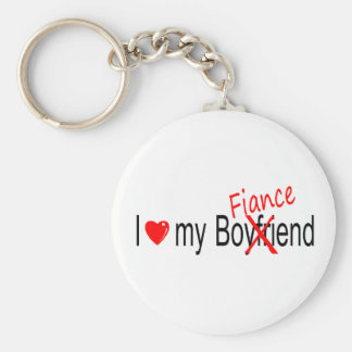 I Love My Fiance Keychains