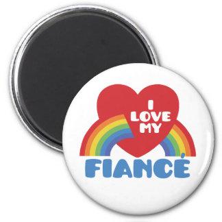 I Love My Fiance 6 Cm Round Magnet