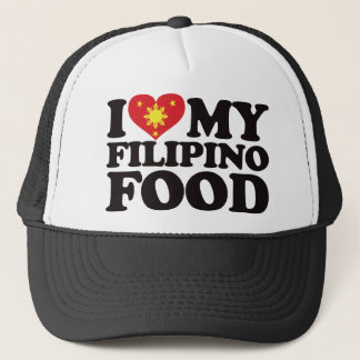 I Love My Filipino Food Trucker Hat