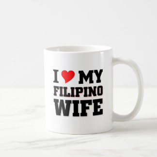 I love my Filipino Wife Basic White Mug