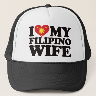 I Love My Filipino Wife Trucker Hat
