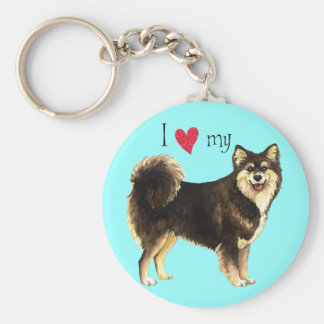 I Love my Finnish Lapphund Key Ring