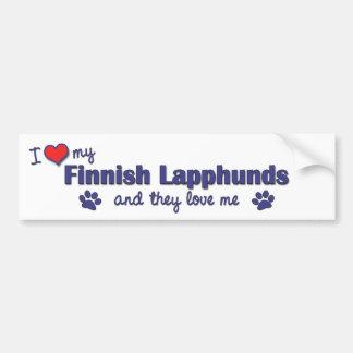I Love My Finnish Lapphunds (Multiple Dogs) Bumper Sticker