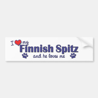 I Love My Finnish Spitz (Male Dog) Bumper Sticker