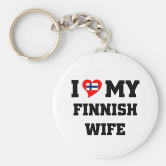 I love my finnish wife key ring