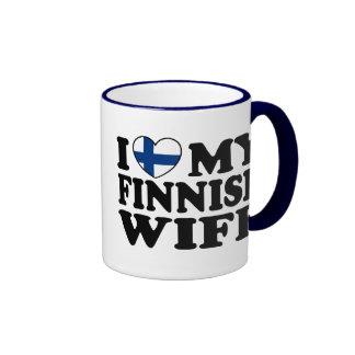 I Love My Finnish Wife Ringer Mug
