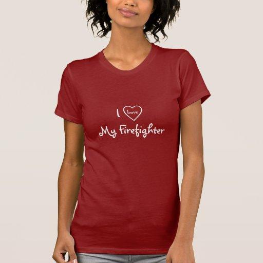 I Love My Firefighter-T-Shirt-Heart Design