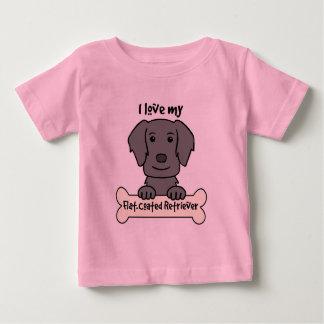 I Love My Flat-Coated Retriever Baby T-Shirt