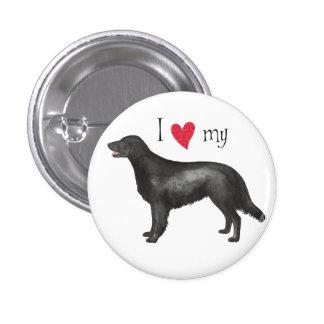 I Love my Flat-Coated Retriever Button