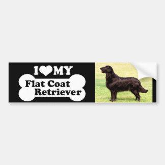 I love my Flat Coated Retriever Car Bumper Sticker