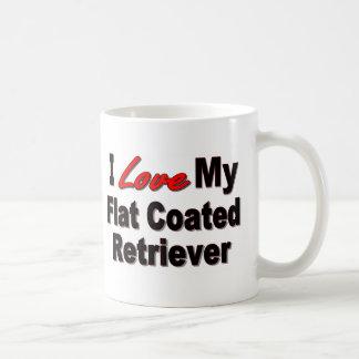 I Love My Flat Coated Retriever Dog Gifts Mug