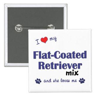 I Love My Flat-Coated Retriever Mix (Female Dog) Button